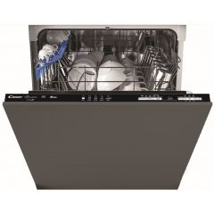 Candy CDIN1L380PB Brava Wifi Connected Fully Integrated Standard Dishwasher Black Control Panel With