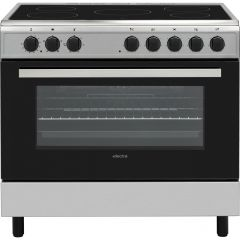 Electra SCR90SS Electra Scr90ss 90Cm Electric Range Cooker With Ceramic Hob - Stainless Steel - A Ra