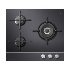 Fisher&Paykel CG603DNGGB1 Gas on Glass Hob 60cm 3 Burner
