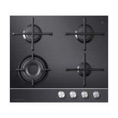 Fisher + Paykel CG604DNGGB1Gas on Glass Cooktop 60cm 4 Burner