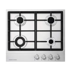 Fisher&Paykel CG604DNGX1 Gas on Steel Hob 60cm 4 Burner