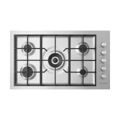 Fisher&Paykel CG905DWLPFCX3 Gas on Steel Cooktop 90cm 5 Burner