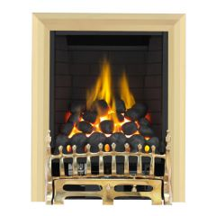 Focal Point Fires Plc BLENHEIM BRASS    Blenheim Brass   Full Depth Radiant Electric Fire  - Fc0081