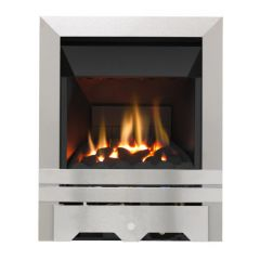 Focal Point Fires Plc  LULWORTH  Lulworth Stainless Steel   Glass Fronted Electric Fire  - Fc0087