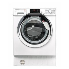 Hoover HBWD8514DAC Hoover Integrated 8Kg Wash/5Kg Dry 1400 Spin Washer Dryer In White With A Chrome