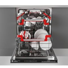 Hoover HDIN4D620PB-80E Built In Fully Integrated Dishwasher
