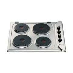 Hotpoint E604X Electric Solid Plate Hob In Stainless