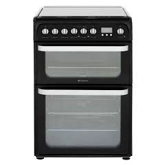 Hotpoint HUD61KS 60Cm Duel Fuel Double Oven In Black