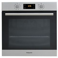 Hotpoint SA2540HIX Hopoint Built In Multifunction Single Oven With A 66 Litre Capacity In St/Steel