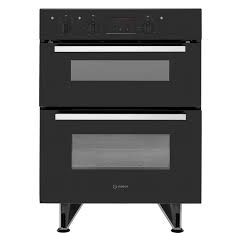 Indesit IDU6340BL Built Under Double Oven With Feet B/B Rated