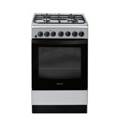 Indesit 50cm duel fuel cooker in stainless steel
