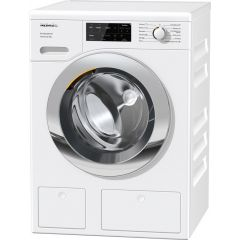 Miele WEG665 9Kg 1400 Spin W1 Front-Loading Washing Machine In White With Chrome Door