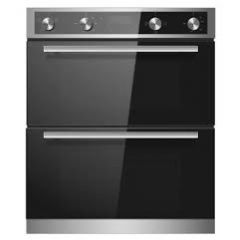 Montpellier DO3550UB Built Under Double Oven In Black/Stainless Steel