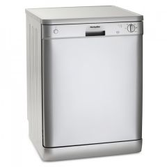 Montpellier DW1254S Montpellier 60Cm Freestanding Dishwasher With 12 Place Settings In Silver
