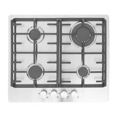 Montpellier MGH61CX 60Cm Gas 4 Burner Hob In Stainless Front Controls