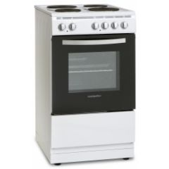 Montpellier MSE50W 50Cm Single Cavity Electric Cooker With Solid Plate Hob