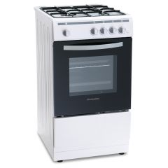 Montpellier MSG50W Montpellier Single Cavity 50Cm Gas Cooker In White