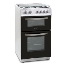 Montpellier MTG50LW 50Cm Gas Twin Cavity Cooker In White