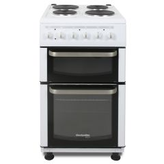 Montpellier TCE51W Montpellier Eco White 50Cm Twin Cavity Solid Plate Cooker