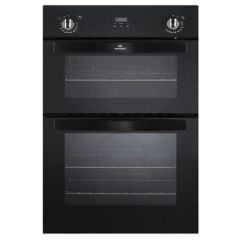 New World NW901DOPBLK 444442270 Double Built In Oven With Clock In Black