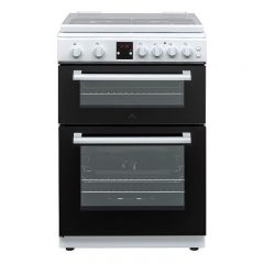 New World NWG600MDWHI 444410233 60Cm Twin Cavity Gas Cooker In White