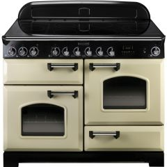 Rangemaster CDL110EICR/C Classic Deluxe Cream With Chrome Trim 110Cm Electric Induction Range Cooker