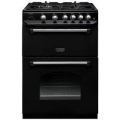 Rangemaster CLA60NGFBL/C Rangemaster Classic 60 Cla60ngfbl/C Gas Cooker With Full Width Electric Gri