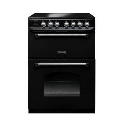 Rangemaster CLAS60ECBL/C Classic 60 Electric Double Oven In Black/Chrome