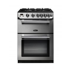 Rangemaster PROP60NGFSS/C Professional+ 60Cm Gas Double Oven In Stainless/Chrome