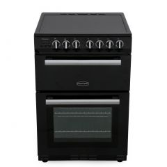 Rangemaster PROPL60ECBL/C Professional Plus Black With Chrome Trim Electric Cooker With Double Oven
