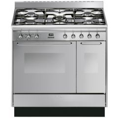 Smeg CC92MX9 90Cm Double Cavity Stainless Steel Range Cooker
