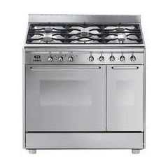 Smeg CG92PX9 Smeg Cg92px9 90Cm Dual Fuel Range Cooker - Stainless Steel - A/A Rated