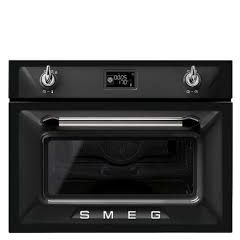 Smeg SF4920MCN 45Cm Victoria Built In Microwave In Black