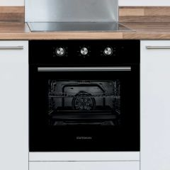 Statesman BSF60BL Electric Built In Single Oven In Black