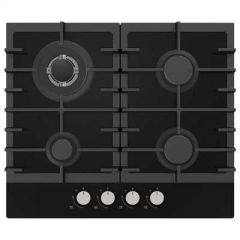 Statesman GH60GB Statesman 60Cm 4 Zone Gas Hob Glass Black