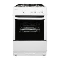 Statesman MAXI60GSF 60Cm Single Cavity Gas Cooker In White