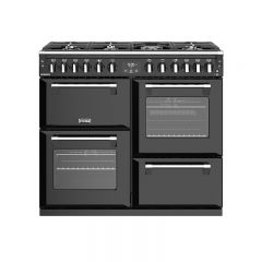 Stoves RICH S1000DFBLK 444444451 Stoves Richmond 100Cm Dual Fuel Range Cooker In Black With A Rated