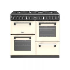 Stoves RICH S1000DFCR 444444452 Stoves Richmond 100Cm Dual Fuel Range Cooker In Cream With A Rated O