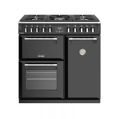 Stoves RICH S900DFBLK 444444435 Stoves Richmond 900Mm Dual Fuel Range Cooker In Black With A Rated O