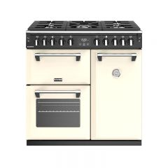 Stoves RICH S900DFCR 444444436 Stoves Richmond 900Mm Dual Fuel Range Cooker In Cream With A Rated Ov