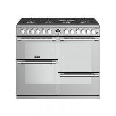 Stoves STERS1000DFSS 444444492 Stoves Sterling 1000Mm Dual Fuel Range Cooker In Stainless Steel