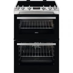 Zanussi ZCV66370XA Zanussi Ceramic Electric Cooker With Double Oven In Stainless Steel